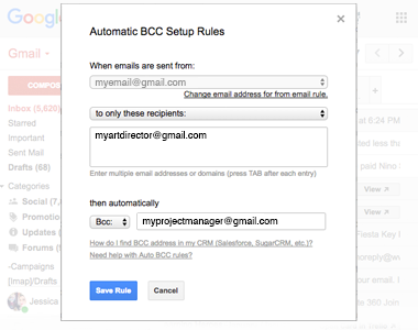 Set Rules Based on Recipient Email or Domain