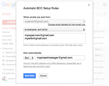 Exclude Recipients or Domains from Your Rules